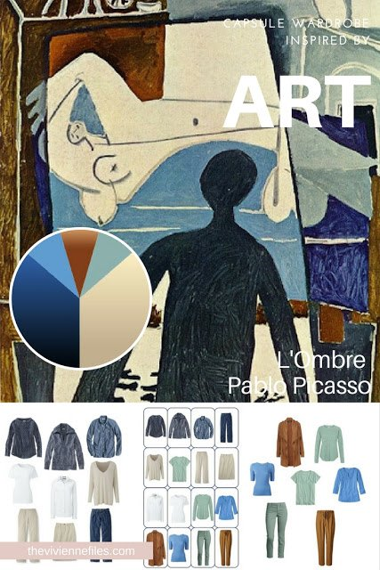 Accents for a Denim and Khaki Wardrobe - Start with Art: L'Ombre by Pablo Picasso