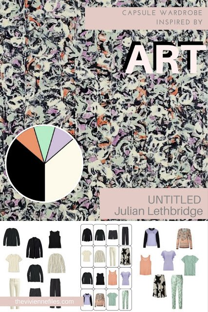 How to accent a neutral capsule wardrobe by Starting with Art: Untitled by Julian Lethbridge