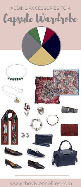How to add accent colors to an all neutral capsule wardrobe with accessories