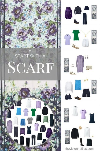 How to Gradually Build a Capsule Wardrobe: Start with a Scarf - Ted Baker Enchantment
