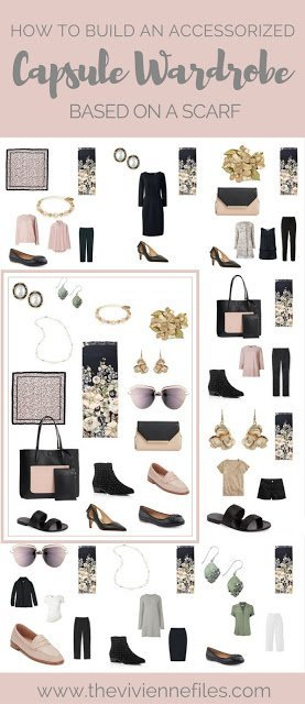 """How to Choose a """"Project 333"""" Wardrobe Based on a Scarf - Ted Baker London's Gem Garden"""