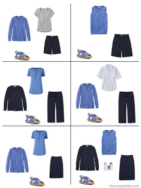 six ways to wear French blue with grey and navy in the summertime