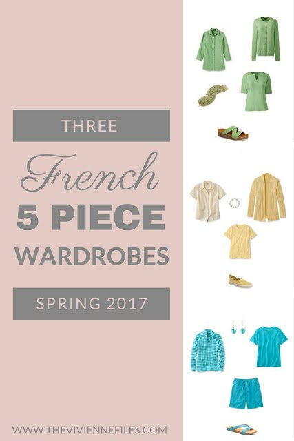 Three French 5-Piece Wardrobes for Spring 2017