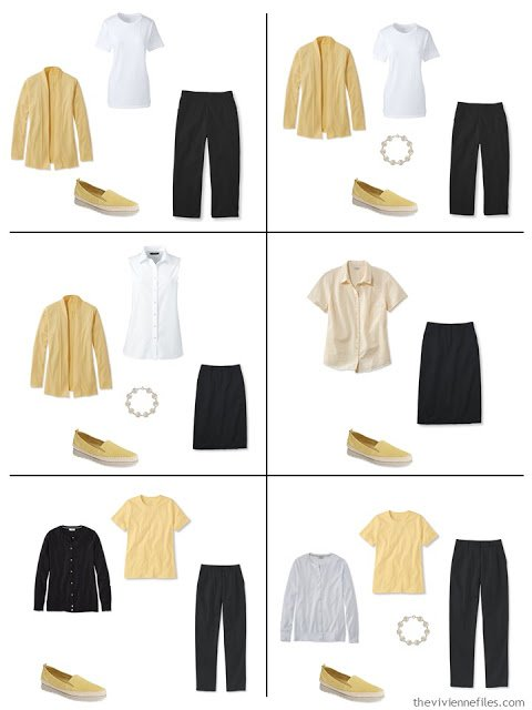 six ways to wear yellow with black and white for warm weather