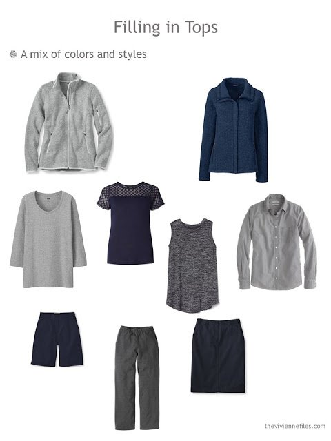 Building a set of Neutral Building Blocks in navy and grey