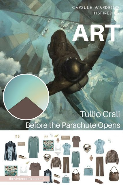 Build an Overnight Travel Capsule Wardrobe by Starting with Art: Before the Parachute Opens by Tullio Crali