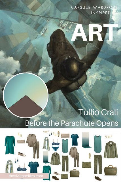 Build An Overnight Travel Capsule Wardrobe by Starting with Art: Before the Parachute Opens, Version 2