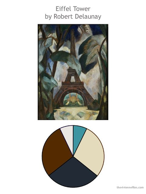 Eiffel Tower by Robert Delaunay with color palette