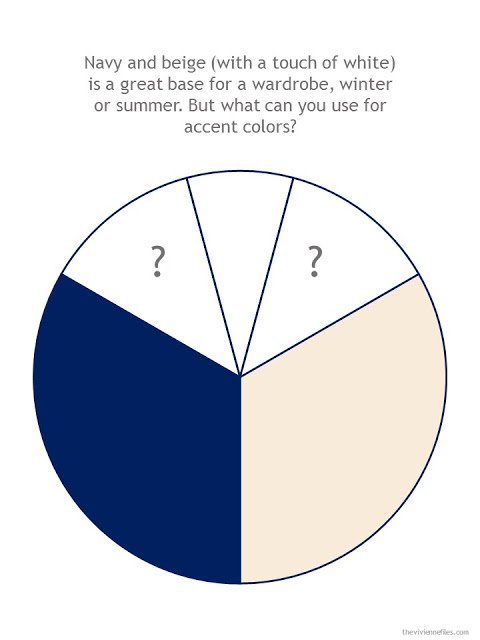 navy and beige color wheel with space for possible accent colors