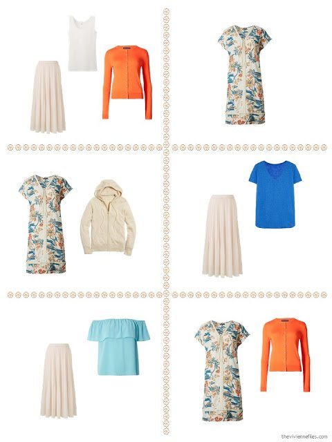six ways to look a bit dressy in a summer travel capsule wardrobe