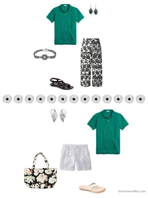 how to style a green polo shirt for warm weather