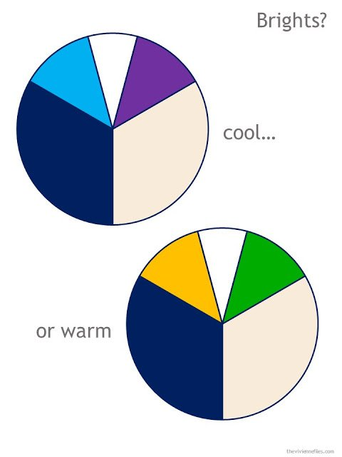 navy and beige color wheels with bright accent colors