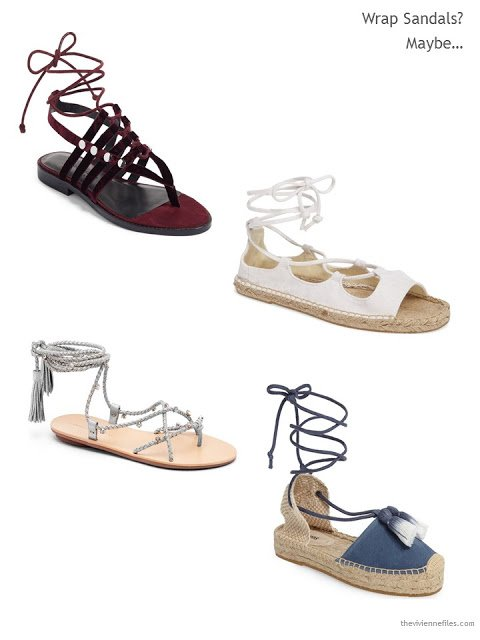 4 pairs of wrap sandals for Summer 2017