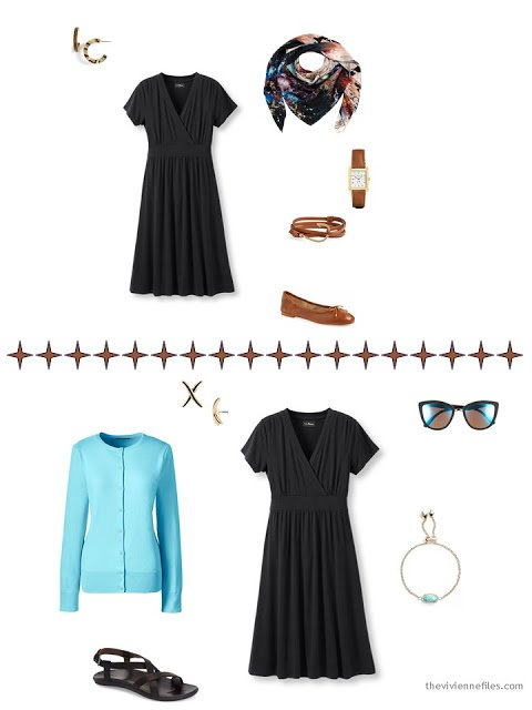 2 ways to style a black dress for summer