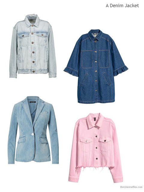four denim jackets for Summer 2017