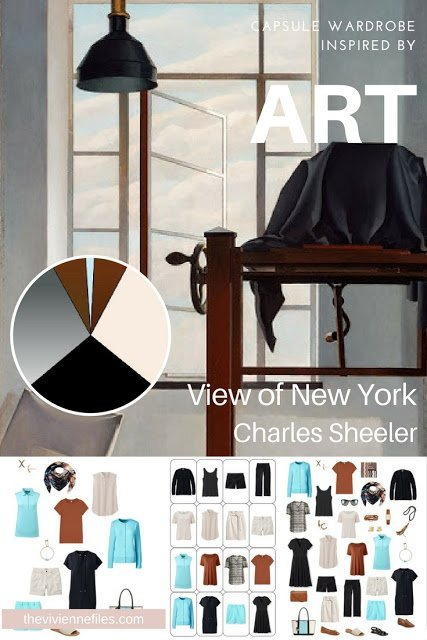 How to Add an Accent Color for Warm Weather; Start with Art: View of New York by Charles Sheeler