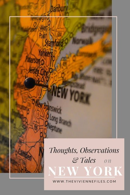 New York - A Whole Bunch of Random Thoughts, Observations, and Tales...