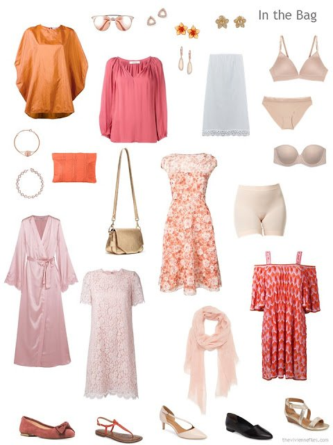 What to pack to elope, in pink and orange