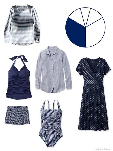 navy additions to a travel capsule wardrobe for warm weather