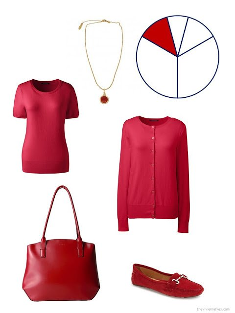 capsule wardrobe accent pieces in cherry red