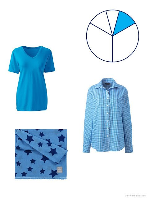 capsule wardrobe accent pieces in bright sky blue