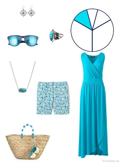 travel capsule wardrobe additions in turquoise
