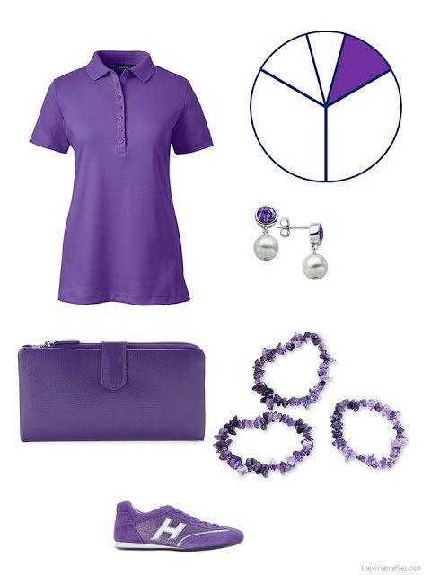 travel capsule wardrobe additions in purple