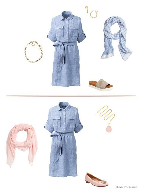 two ways to style a chambray dress for summer