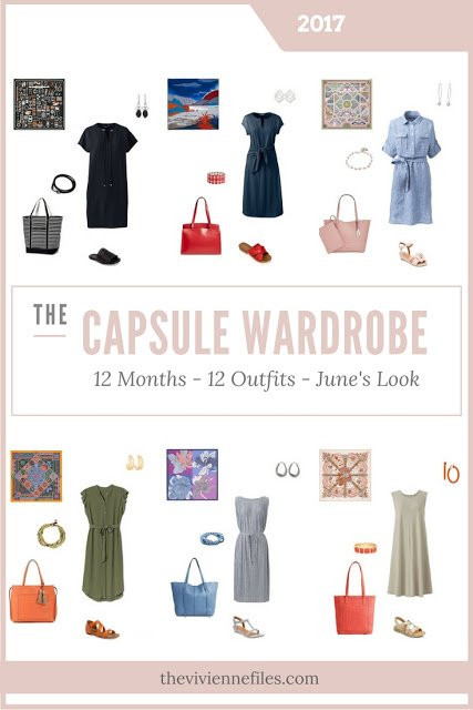 Build a Capsule Wardrobe in 12 Months, 12 Outfits - June 2017