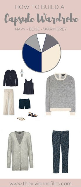 How to Pack for a Holiday in the Mountains: Navy, Beige and Warm Grey