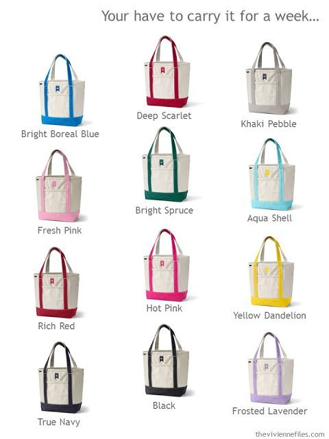 What color tote bag will you choose?