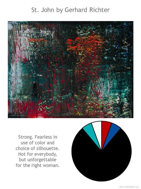 St. John by Gerhard Richter with style guidelines and color palette