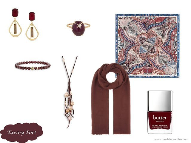 Tawny Port accessory family from the Pantone 2017 Fall colors