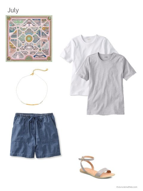 grey, white and denim additions to a capsule wardrobe