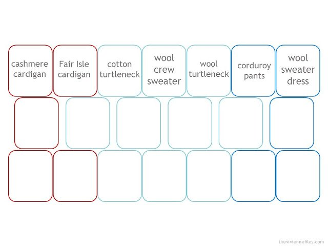 template for a 19-piece cold-weather wardrobe