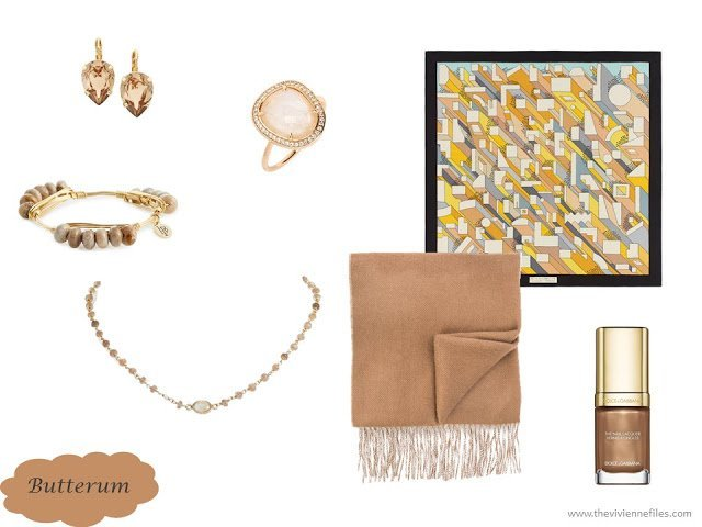 Butterum family of accessories from the Pantene Fall 2017 colors