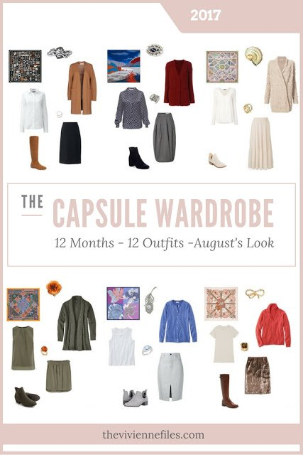 Build a Capsule Wardrobe in 12 Months, 12 Outfits - August 2017
