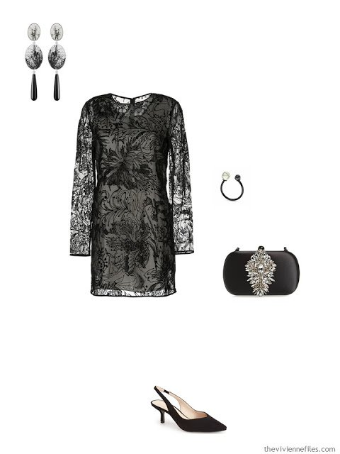 black lace dress formal event outfit