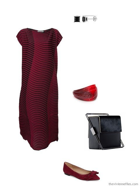 red dress black tie outfit