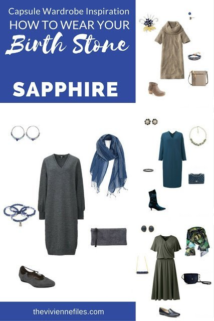 How to wear the September Birthstone, Sapphire, in a capsule wardrobe