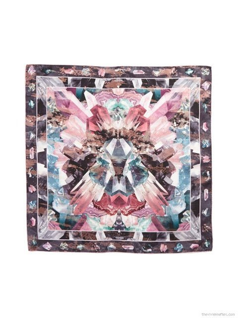 Mirrored Minerals square silk scarf by Ted Baker London