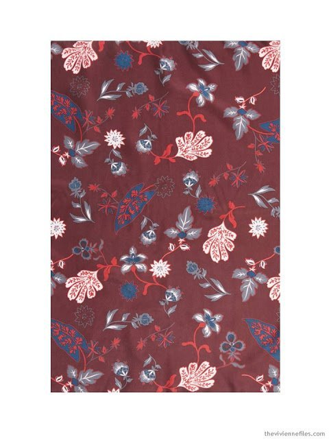 Treasure & Bond Funky Foliage scarf in Burgundy combo
