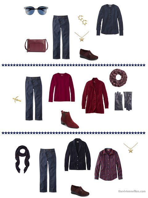 3 ways to wear blue jeans from a capsule wardrobe