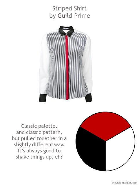 black white and red Guild Prime shirt with style guidelines and color palette