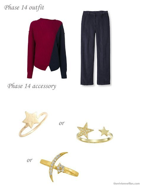 adding a star ring to a capsule wardrobe