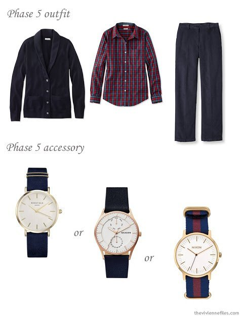 adding a watch to a capsule wardrobe