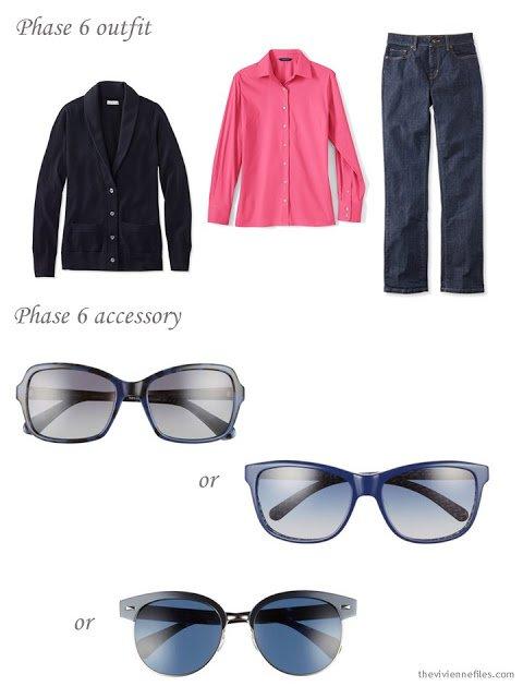adding sunglasses to a capsule wardrobe