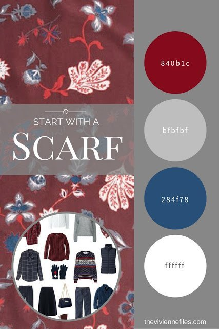 How to Pack for a Long Autumn Weekend by Starting with a Scarf - Funky Foliage by Treasure & Bond