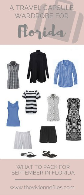 What to pack for Florida in September; A Travel Capsule Wardrobe