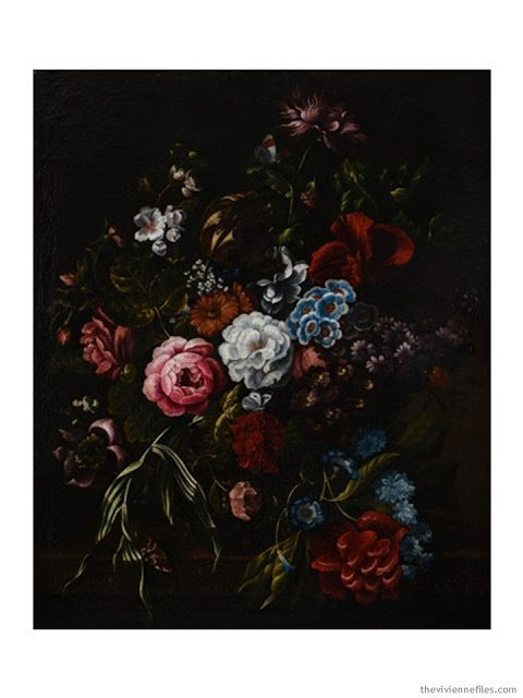 Bouquet des fleurs in the style of Jan van Huysum